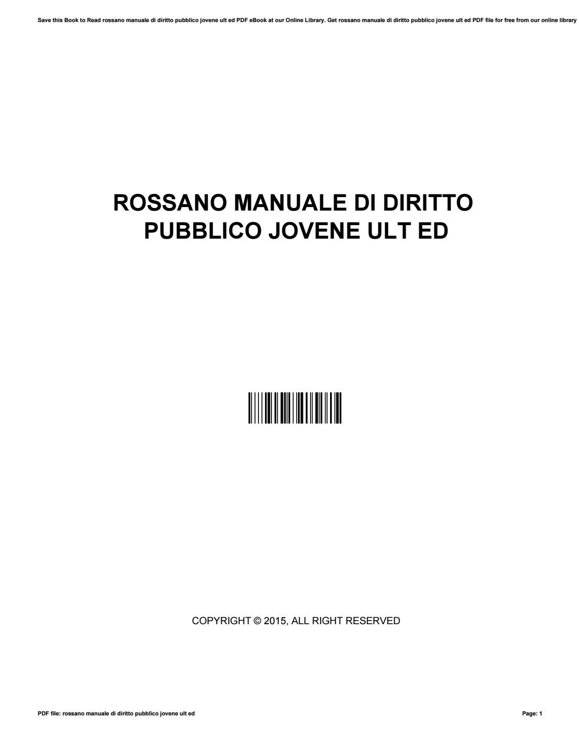 rossano manuale di diritto pubblico jovene ult ed by rh issuu com