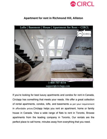 Basement For Rent In Richmond Hill apartment for rent in richmond hill allistoncirclappcl - issuu
