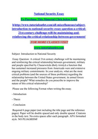 national security essay by albert issuu national security essay to purchase this material click below link h