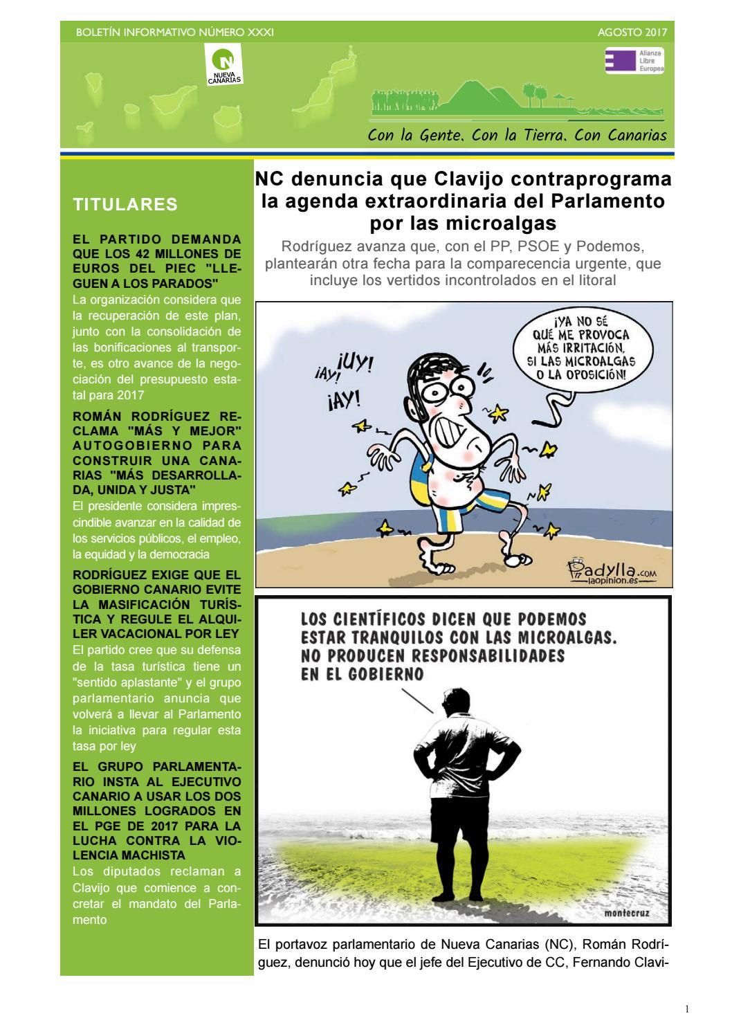 Boletín XXXI agosto 2017 by Nueva Canarias - issuu