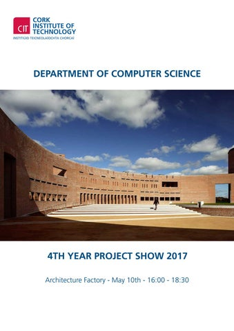 Department of Computer Science 4th Year Project Show by Cork