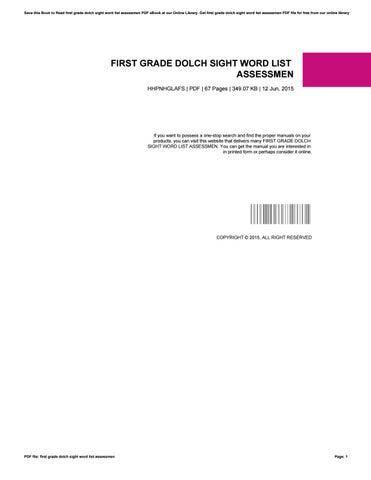 First grade dolch sight word list assessmen by Hernandez - issuu