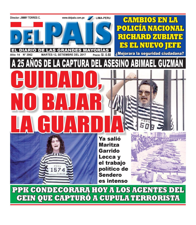 Edicion Impresa 12 de setiembre del 2017 by Diario Del Pais - El ...