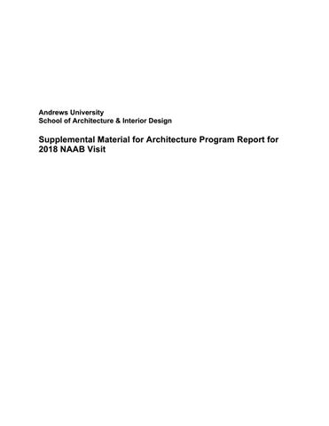 Supplemental material for architecture program report for 2018 naab page 1 fandeluxe Choice Image