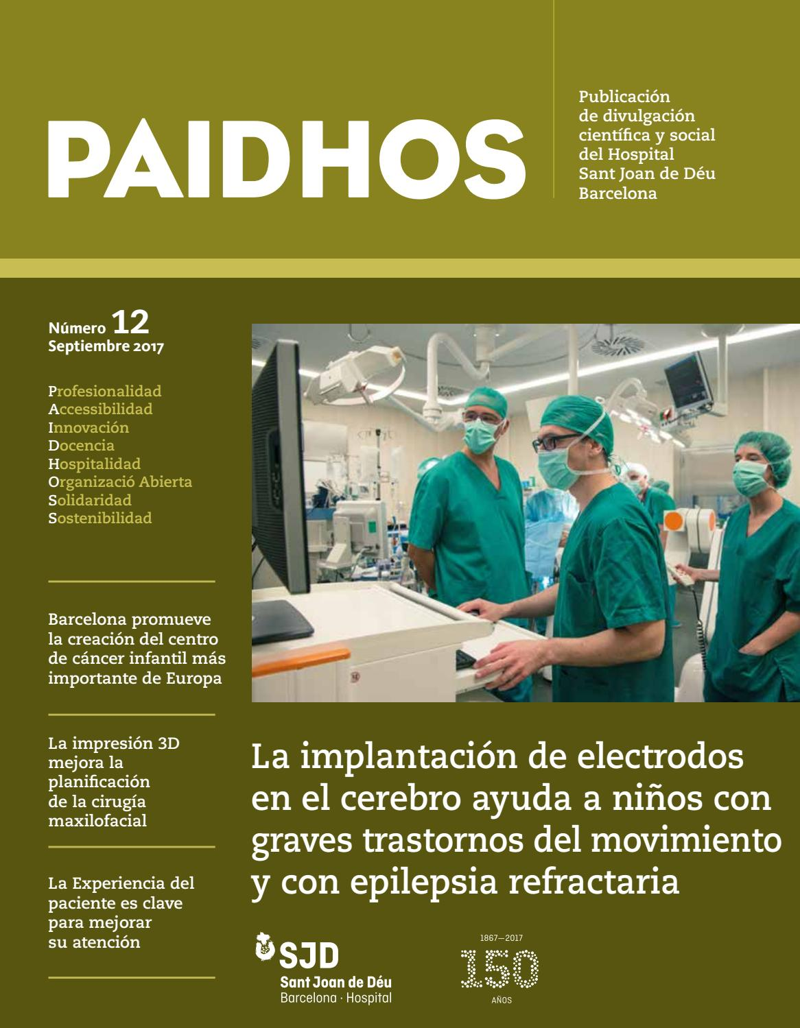 PAIDHOS 12 castellano by Hospital Sant Joan de Déu Barcelona - issuu