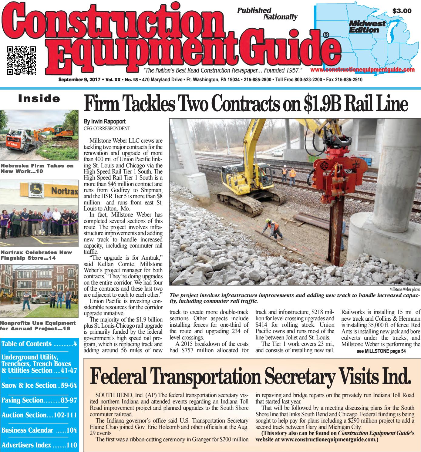 Midwest 18 September 9, 2017 by Construction Equipment Guide