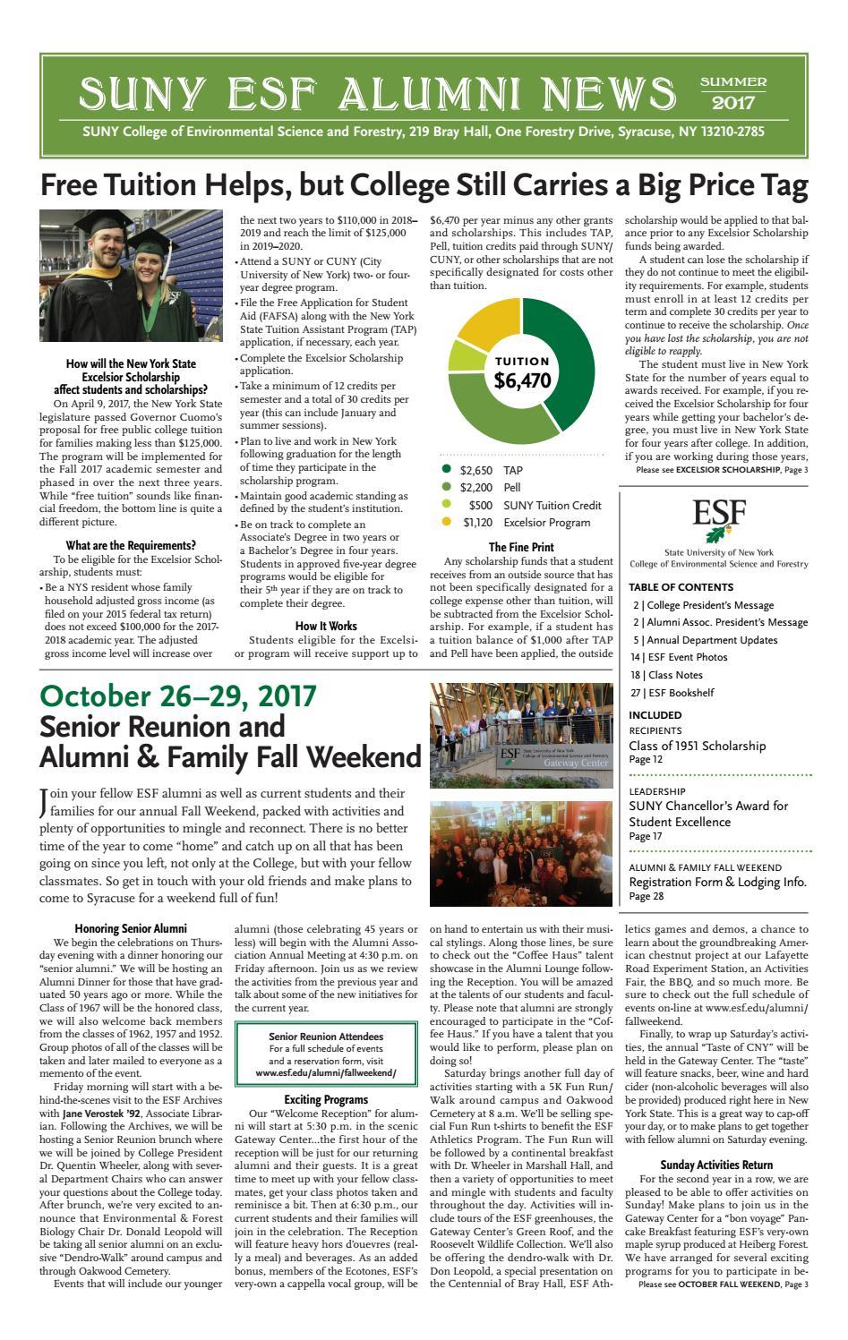 7ceb350353 ESF Alumni News - Summer 2017 by SUNY-ESF - issuu