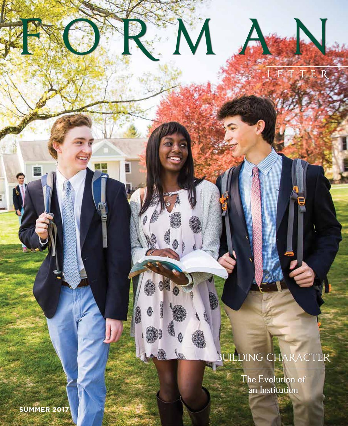 Forman Letter Summer 2017 by Forman School - issuu