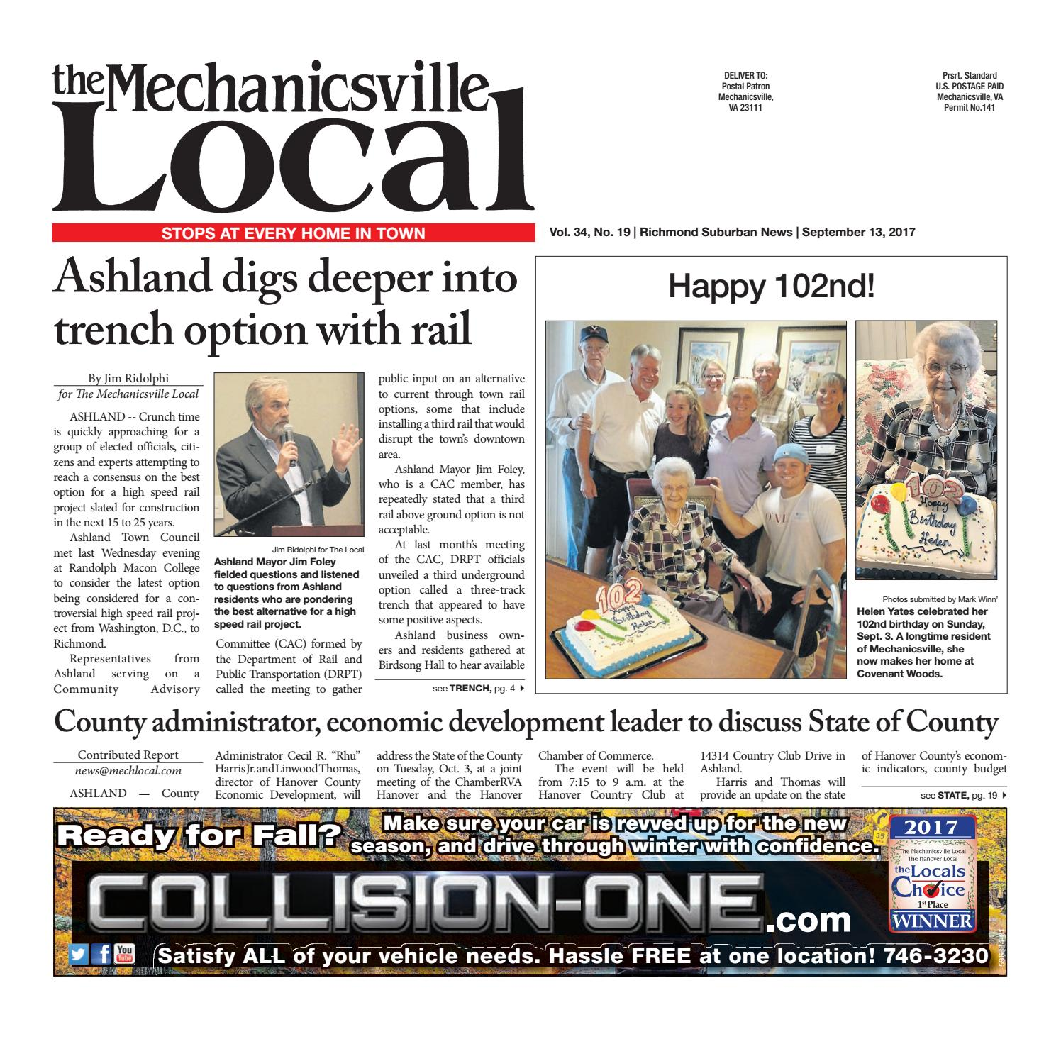 09/13/17 by The Mechanicsville Local - issuu