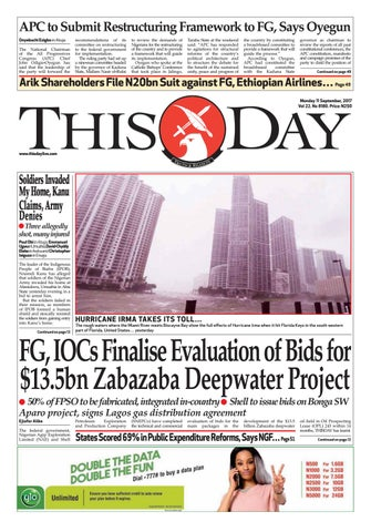 Monday 11th September 2011 by THISDAY Newspapers Ltd - issuu 05a09c259f7