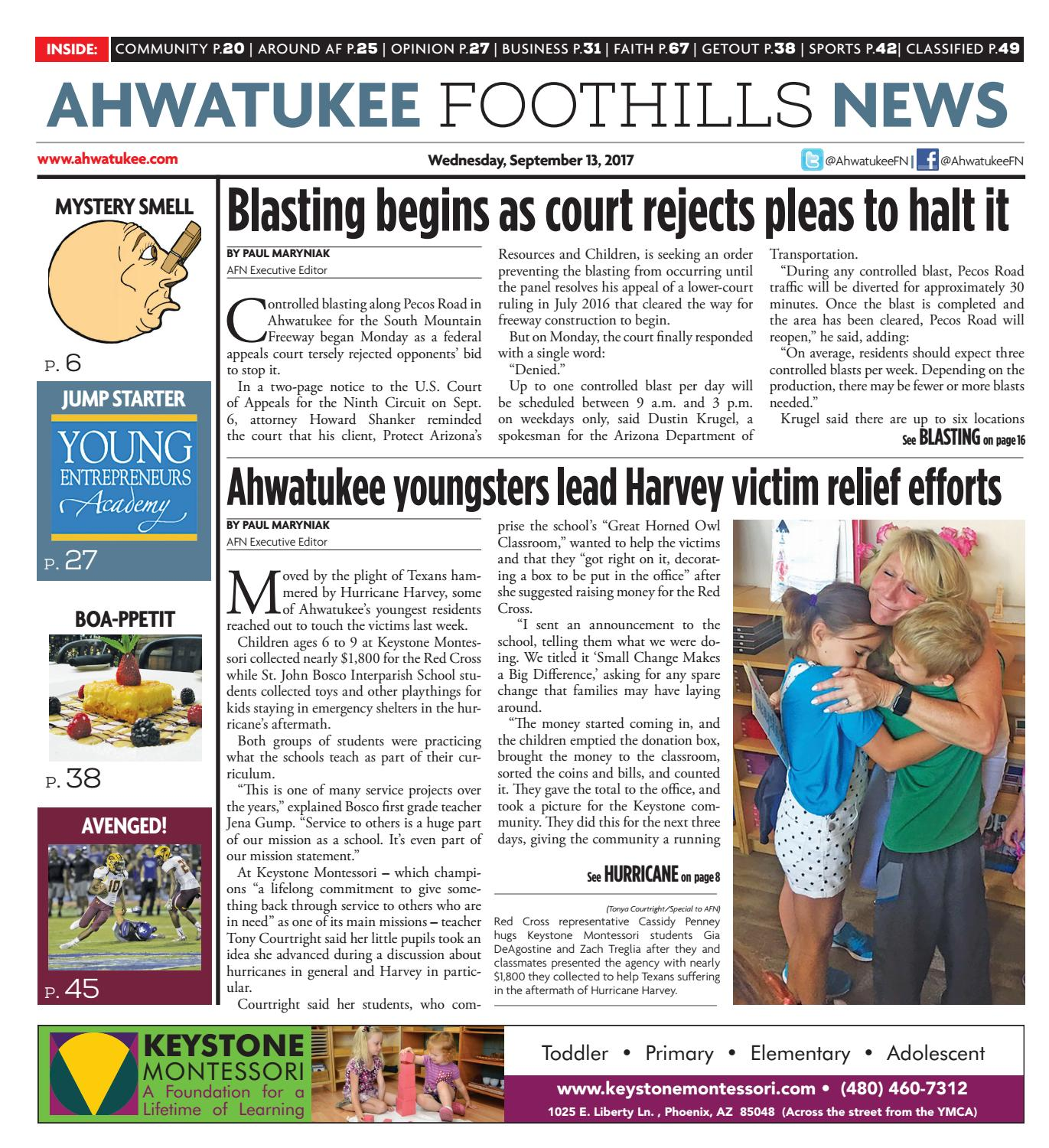 Ahwatukee Foothills News - September 13, 2017