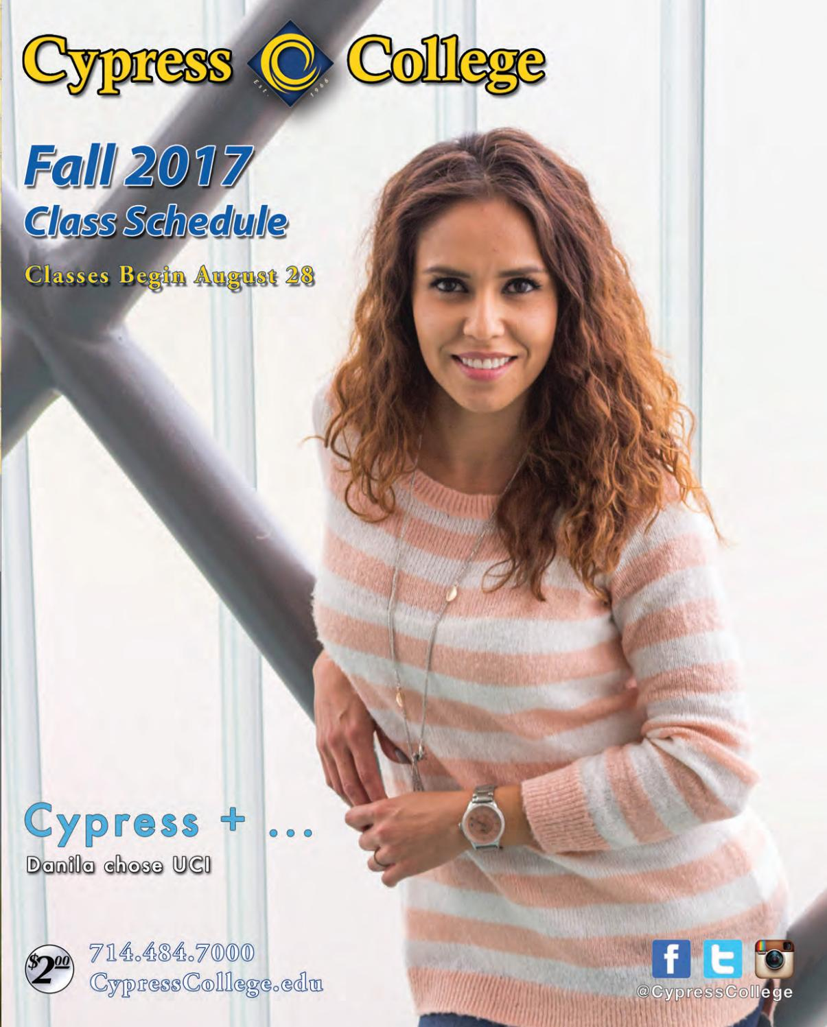 Cypress College 2017 Fall Class Schedule by Cypress College - issuu