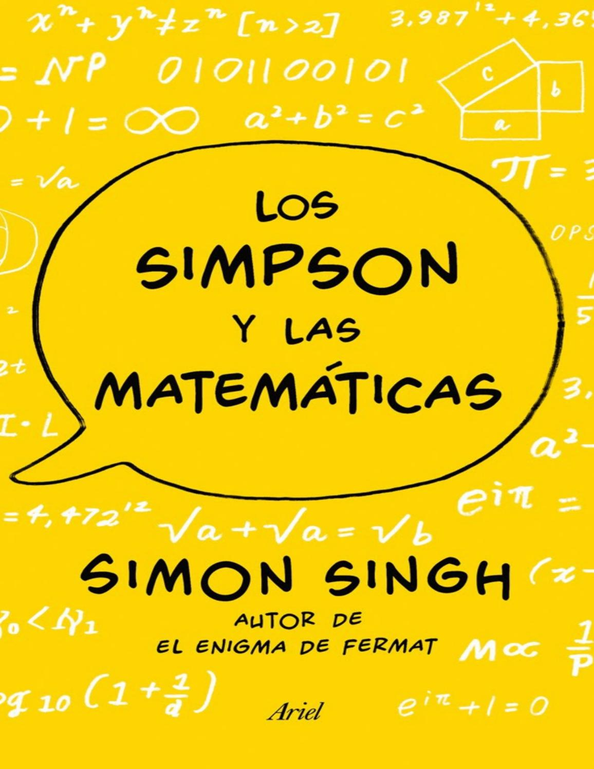 Los Simpson Y Las Matematicas By Marco Antonio Rodriguez Issuu