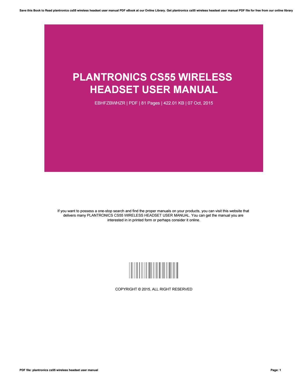 Plantronics c50 manual.