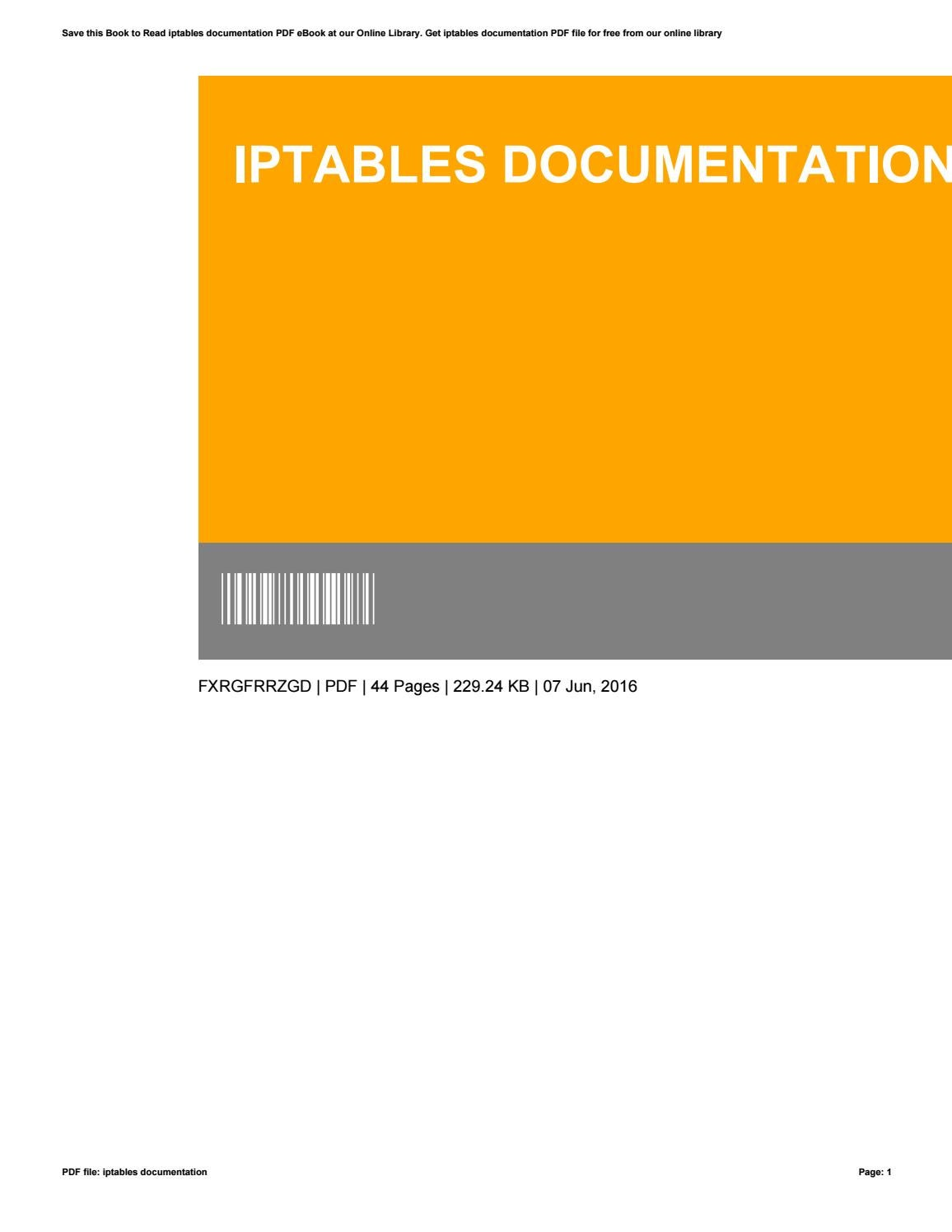 Book pdf iptables