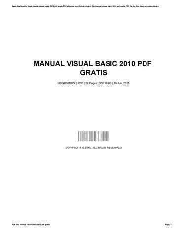 visual basic 2010 pdf free download