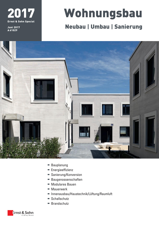 Ernst & Sohn Sonderheft Wohnungsbau 20 by Ernst & Sohn   issuu