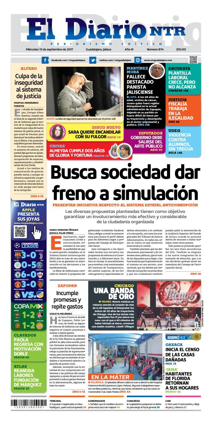 El Diario NTR 874 by NTR Guadalajara - issuu