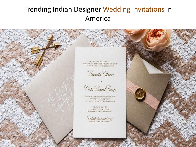 Trending indian designer wedding invitations in america ...