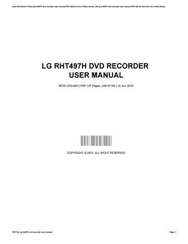 lg rht497h dvd recorder user manual by marksabia2903 issuu rh issuu com