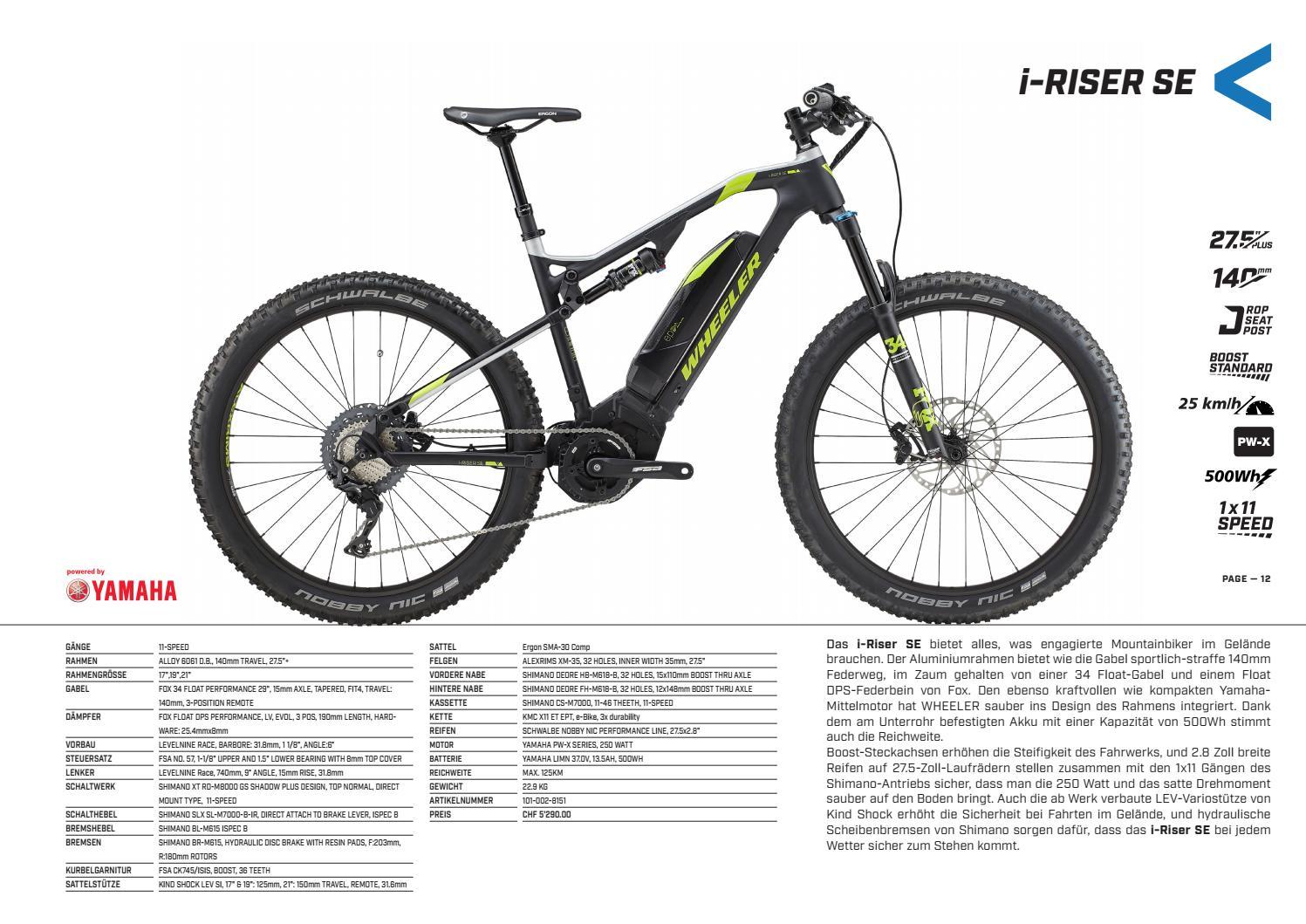 WHEELER E-Bike 2018 Katalog DE by hostettler group - issuu