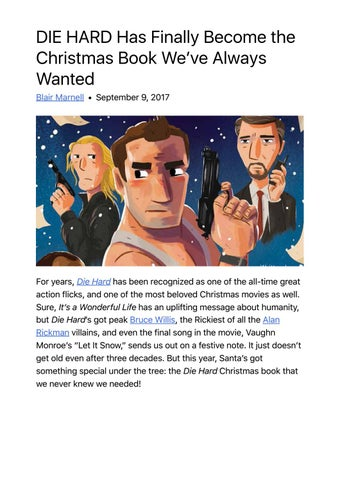 die hard has finally become the christmas book weve always wanted blair marnell september 9 2017