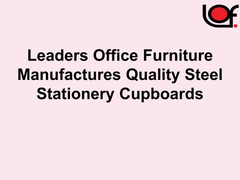 Page 1 Leaders Office Furniture Manufactures