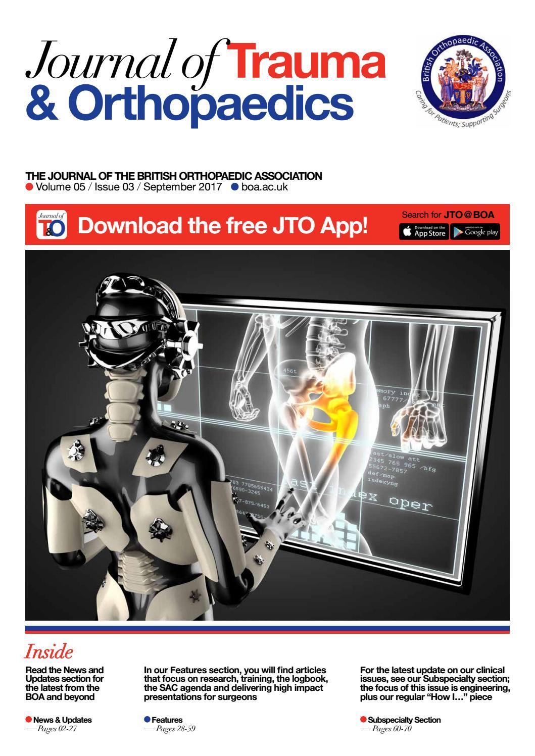 Journal of Trauma & Orthopaedics – Vol 5 / Iss 3 by British
