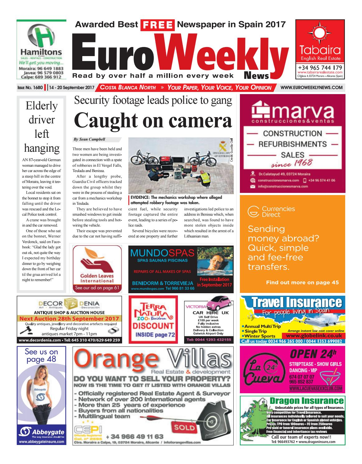 49ed2d9ff Euro Weekly News - Costa Blanca North 14– 20 September 2017 Issue 1680 by  Euro Weekly News Media S.A. - issuu