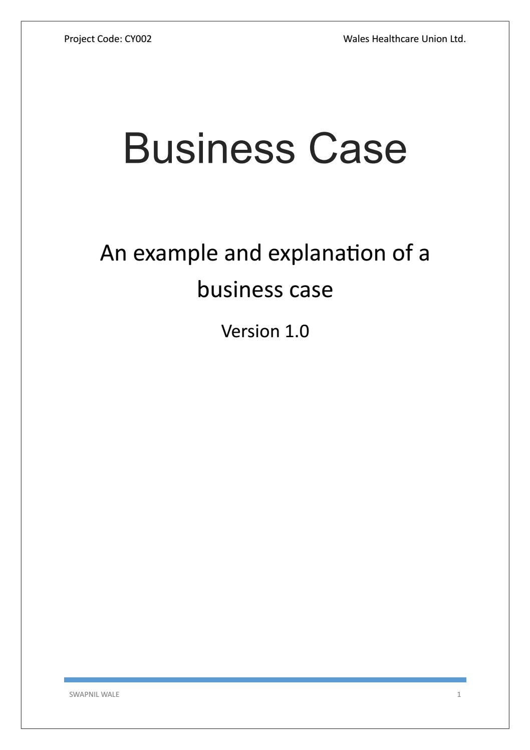 Project Management Business Case Template By Techno Pm Issuu
