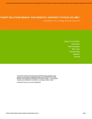 Essential university physics volume 1 2nd edition solutions manual student solutions manual for essential university physics volume 1 fandeluxe Images