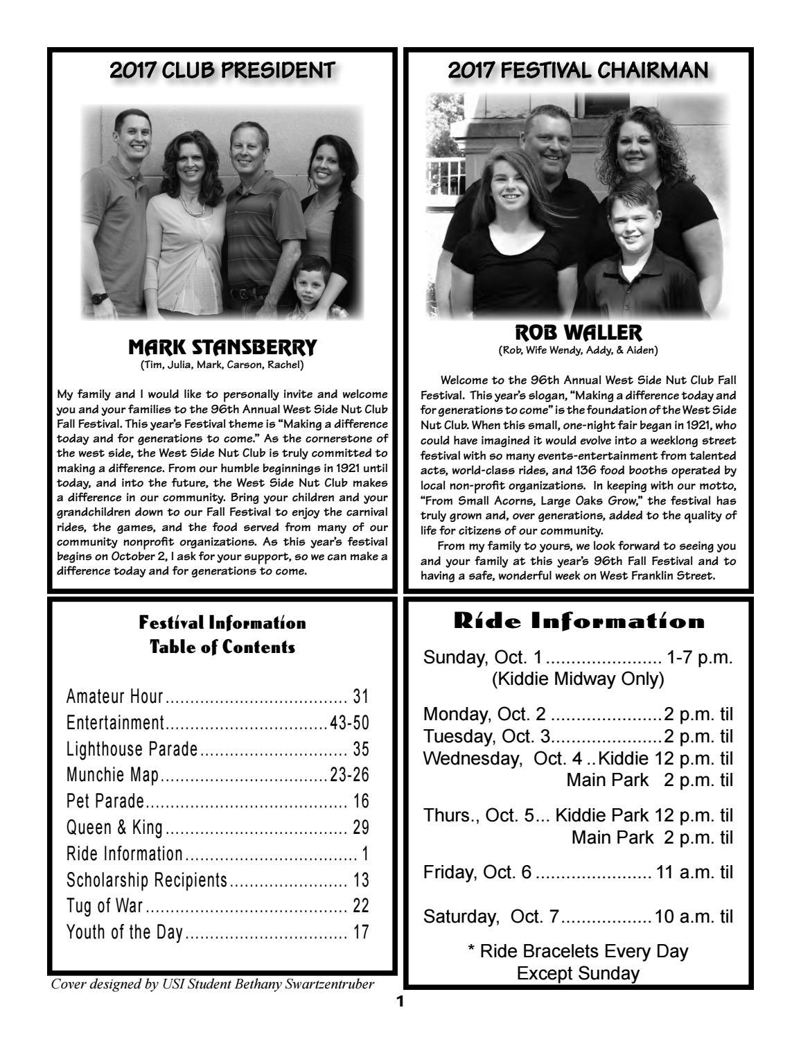 2017 West Side Nut Club Fall Festival Booklet by West Side Nut Club ...