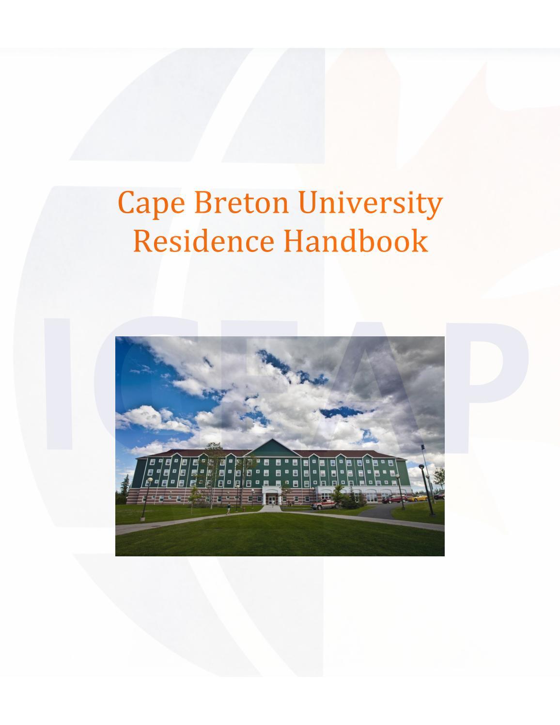 Cbu Residence Handbook 2017 By Jlacerda Issuu