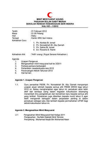 Minit Mesyuarat Agung Bsmm 2017 By Mohdasif Issuu