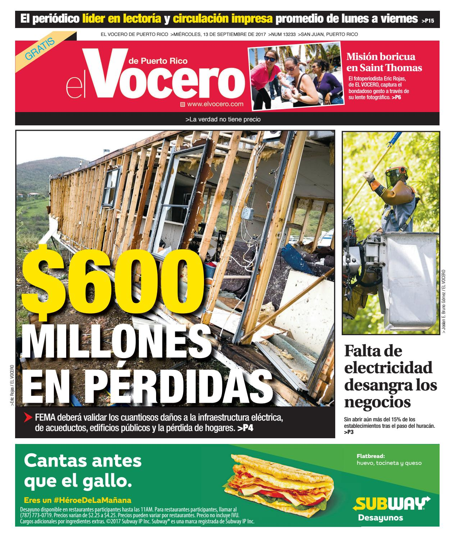 Edici N Del 2 De Octubre De 2017 By El Vocero De Puerto Rico Issuu # Ahorro Muebles Caguas Direccion