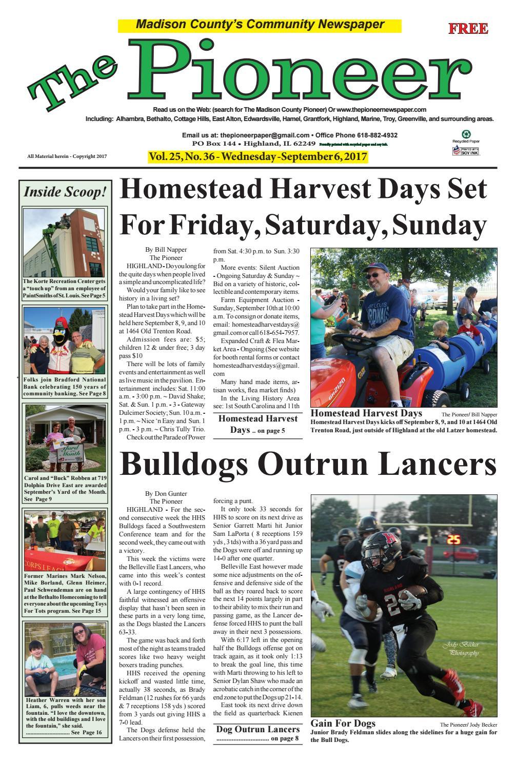 The Pioneer Newspaper Sept 6 2017 by Pioneer Paper - issuu