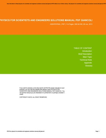 Physics for scientists and engineers 9th solution manual pdf by physics for scientists and engineers solutions manual pdf giancoli fandeluxe Choice Image