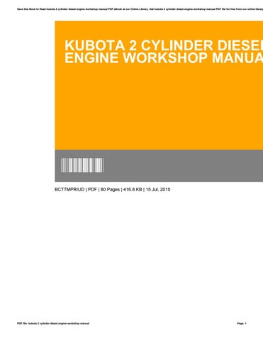 Kubota m4900 m5700 tractor workshop service manual by kubota 2 cylinder diesel engine workshop manual fandeluxe Gallery
