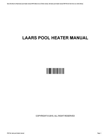 laars pool heater manual by marquis issuu rh issuu com