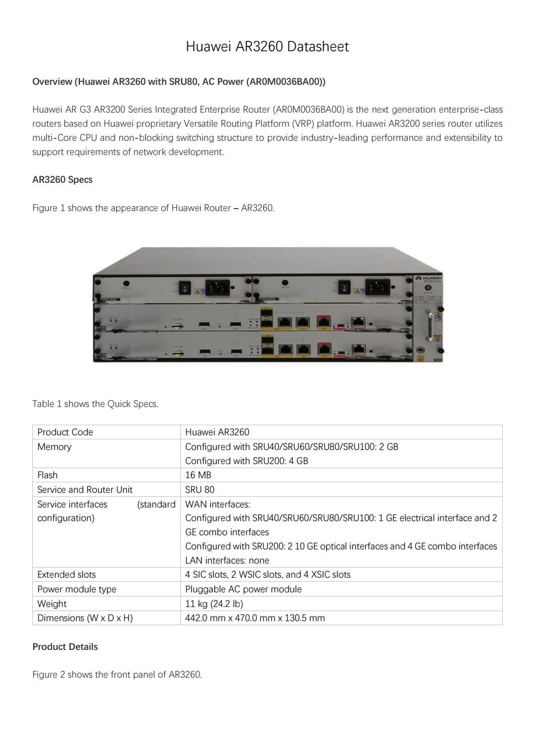 Huawei 2811 datasheet
