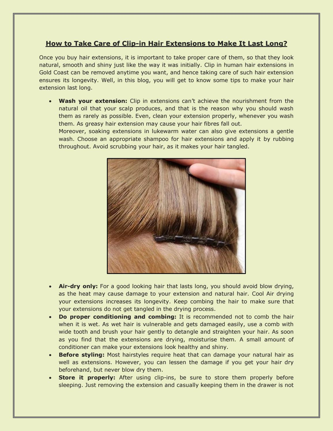 How To Take Care Of Clip In Hair Extensions To Make It Last Long By