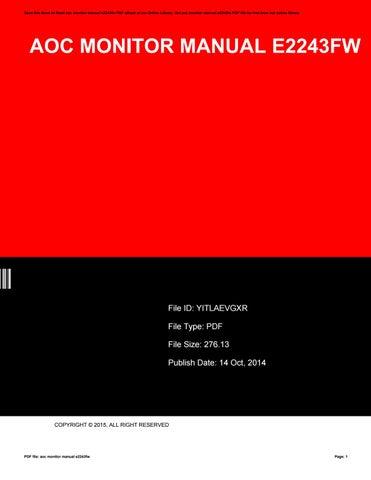 aoc monitor manual e2243fw by thomas issuu rh issuu com aoc e2243fwk manual