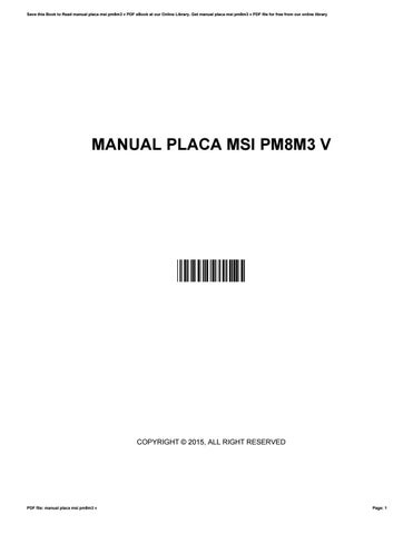 manual placa msi pm8m3 v by claudine issuu rh issuu com pm8m3-v h manual placa mãe pm8m3-v manual