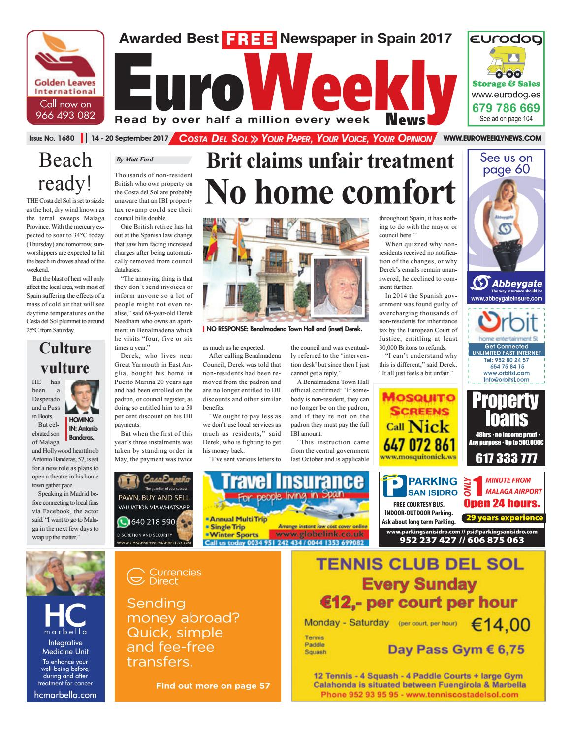 Euro weekly news costa del sol 14 20 september 2017 issue 1680 by euro weekly news costa del sol 14 20 september 2017 issue 1680 by euro weekly news media sa issuu kristyandbryce Gallery