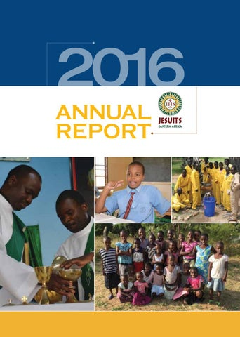 Jea Annual Report 2016 By Jesuits Eastern Africa Issuu