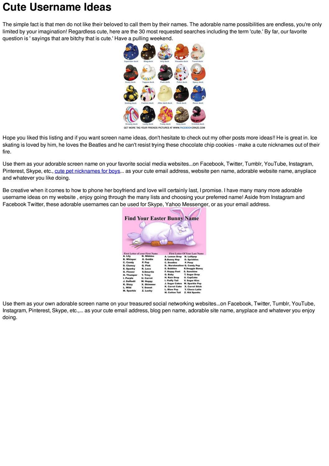 Articles 19 by Cute Nicknames - issuu