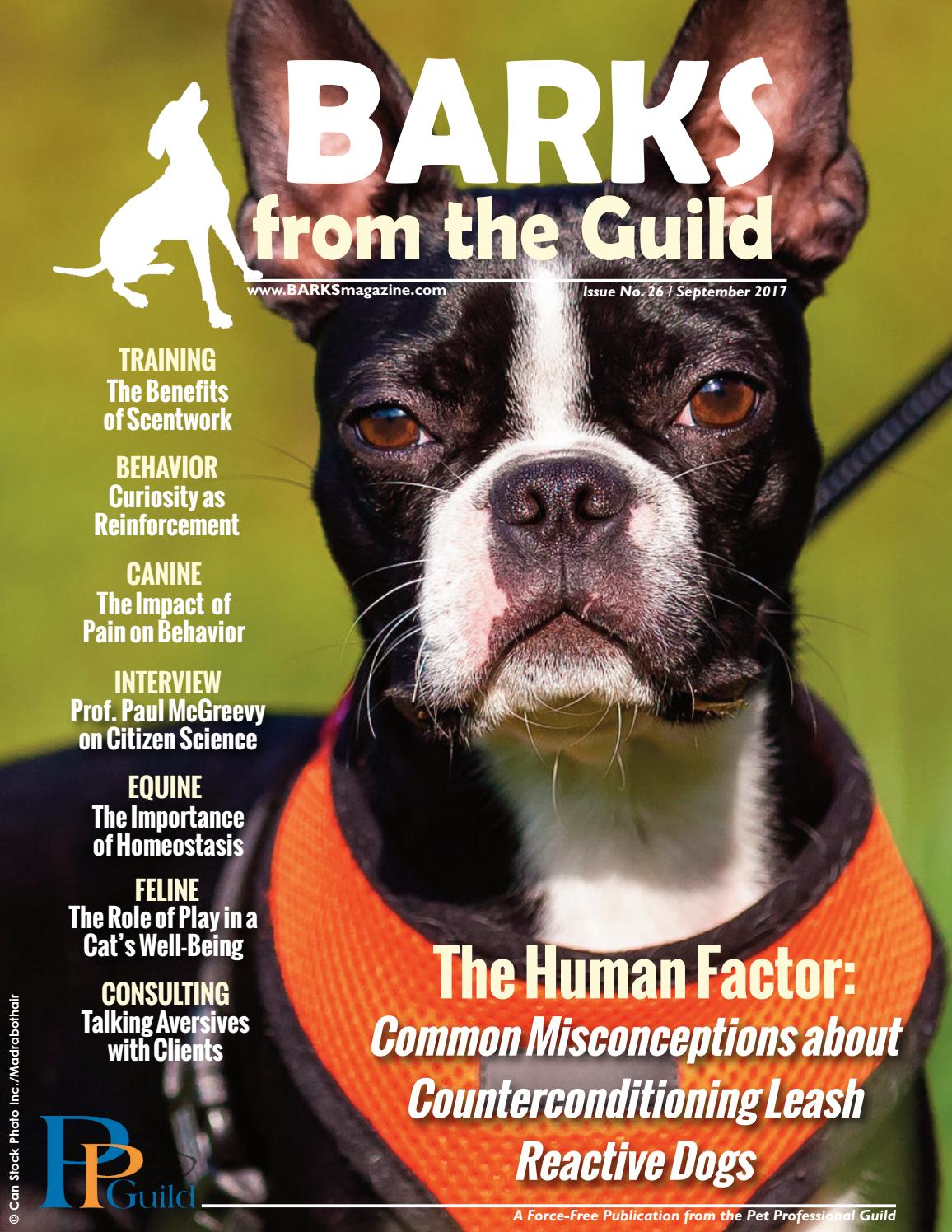 BARKS from the Guild September 2017 by The Pet Professional Guild - issuu