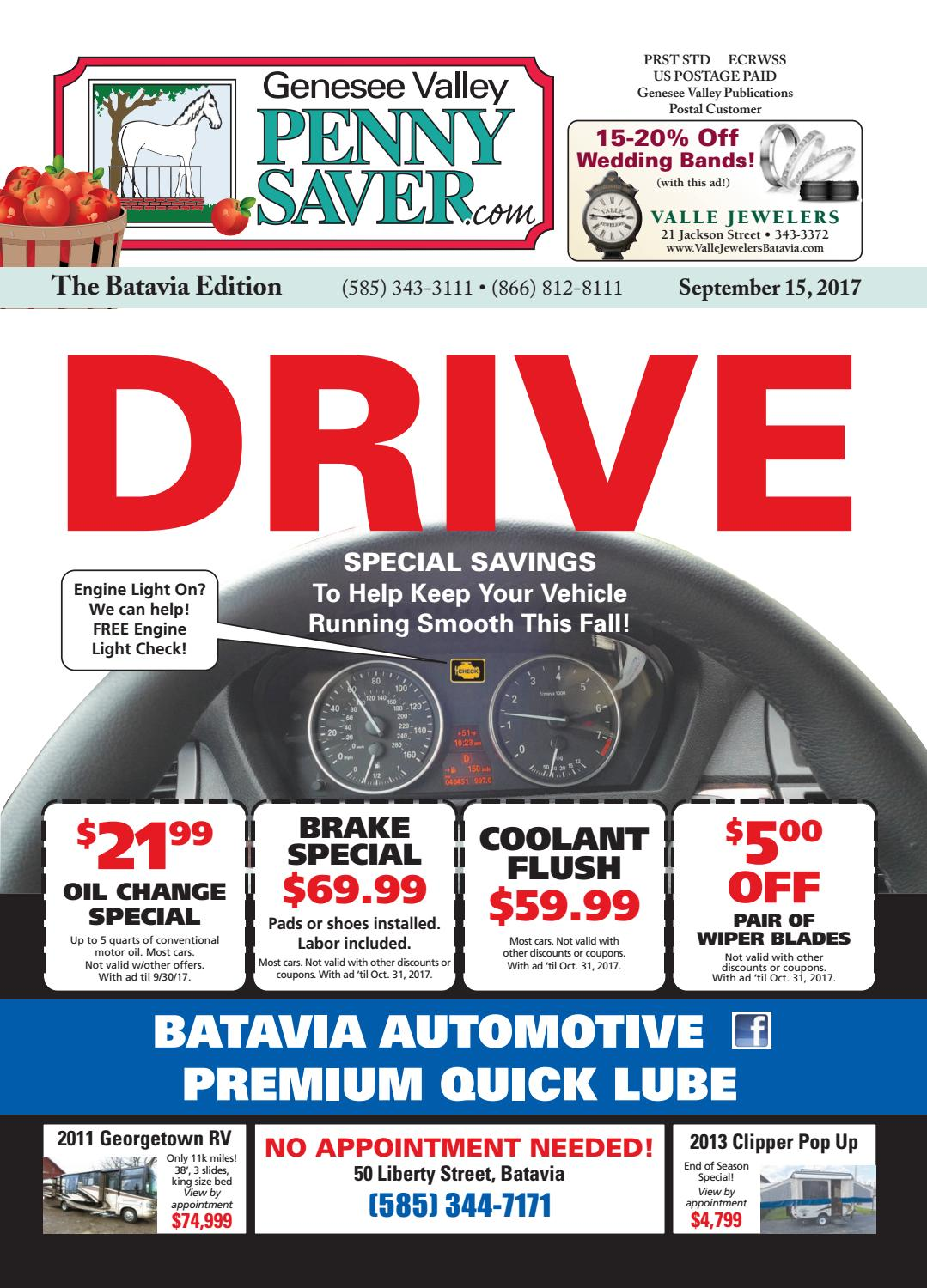The Genesee Valley Penny Saver Batavia Edition 9/15/17 by Genesee ...