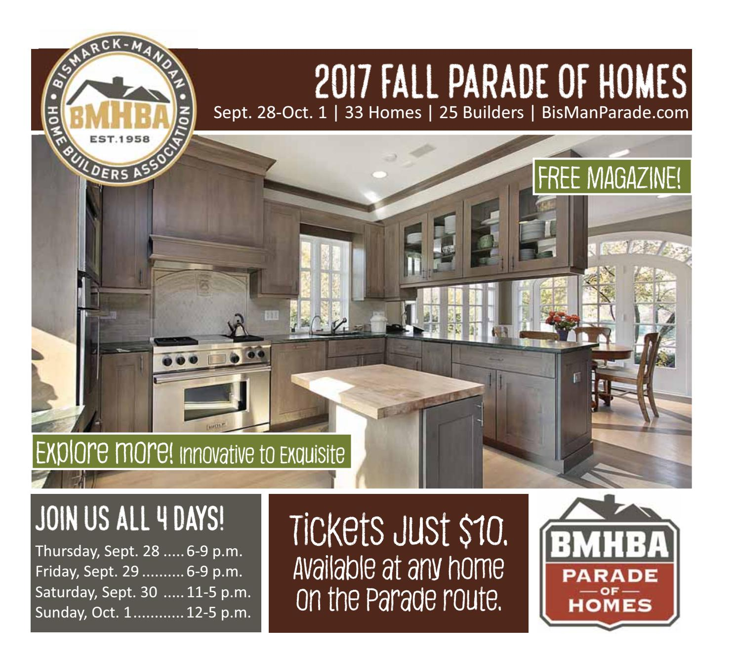 2017 Fall Parade Of Homes Magazine By Bismarck Mandan Home Builders Association Issuu