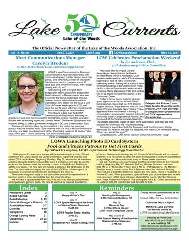 c4ae3f71e366 Lake Currents 05/12/2017 by Lake of the Woods Association - issuu